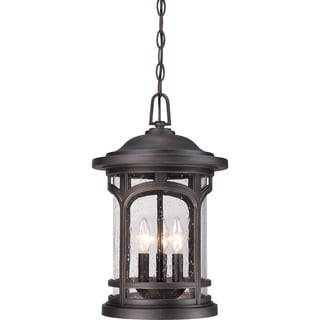 Marblehead Palladian Bronze 3-light Large Hanging Lantern