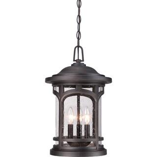 Quoizel Marblehead Palladian Bronze 3-light Large Hanging Lantern