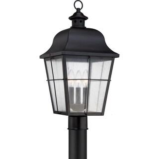 Quoizel Millhouse Mystic Black Large 3-light Post Lantern