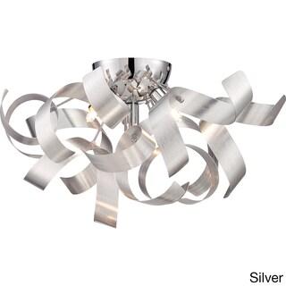 Quoizel Platinum Collection Ribbons 4-light Polished Chrome Large Flush Mount (3 options available)