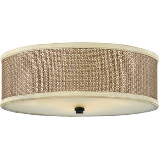 Zen 3-light Mystic Black Flush Mount