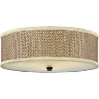 Quoizel Zen 3-light Mystic Black Flush Mount