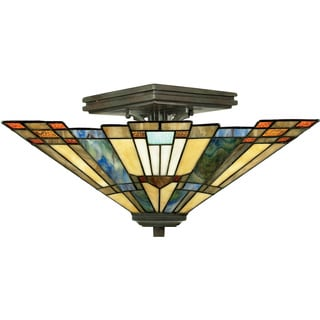 Quoizel Inglenook 2-light Valiant Bronze Semi-flush Mount