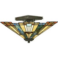 Gracewood Hollow Poradeci 2-light Valiant Bronze Semi-flush Mount