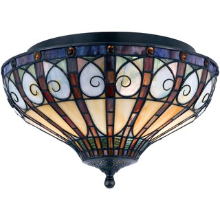 Gracewood Hollow Mjeda 2-light Vintage Bronze Flush Mount