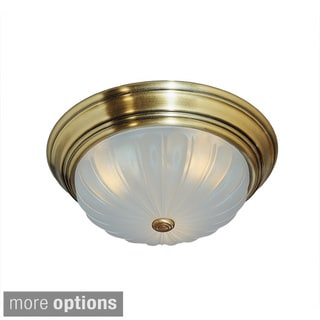 Quoizel 'Melon' 3-light Flush Mount