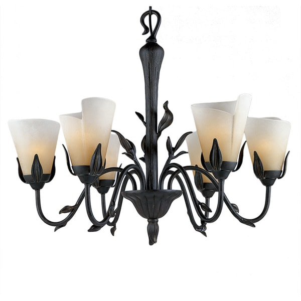 Yuma 6-light Imperial Bronze Chandelier