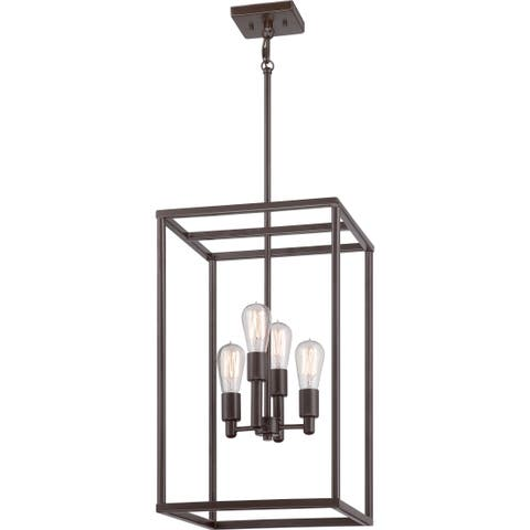 Quoize 'New Harbor' 4-light Western Bronze Cage Chandelier