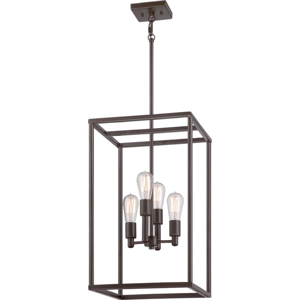 Quoize New Harbor 4light Western Bronze Cage Chandelier Free – Quoizel Chandelier