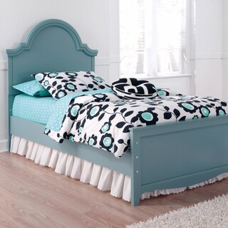 Mivara Light Blue Panel Bed Set
