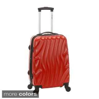 Rockland Wave 20-inch Expandable Carry On Hardside Spinner Upright