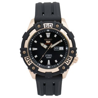 Seiko 5 Men's SRP480 Balck Rubber Watch