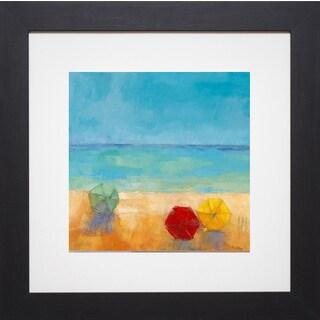 Pivier-Attolini 'Parasols II' Framed Artwork