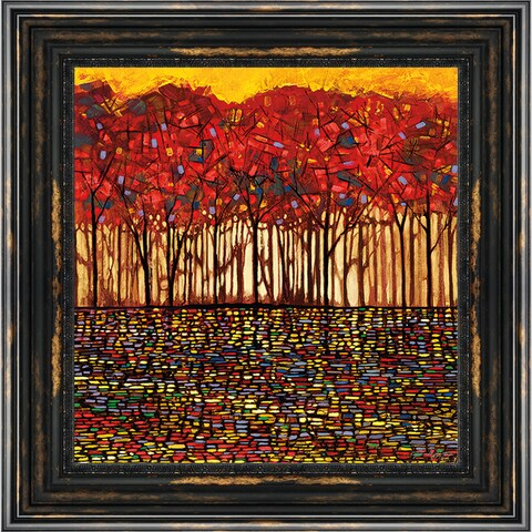 Smith 'Intricate Nature' Framed Artwork - Red