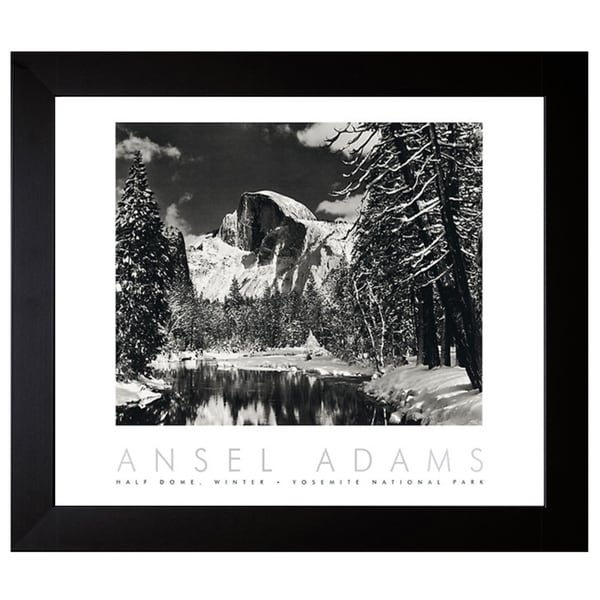 Shop Framed Art Print Half Dome Winter: Shop Adams, Ansel 'Half Dome, Merced River, Winter' Framed
