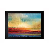 Rodriguez 'Horizons I ' Framed Artwork - Red