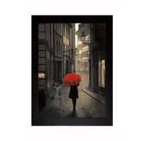 Corso 'Red Rain ' Framed Artwork - Black