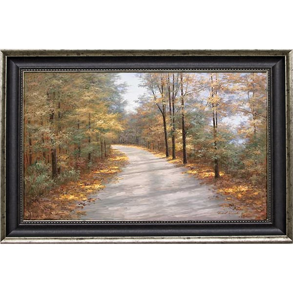 Romanello 'Walking in Fall' Framed Artwork