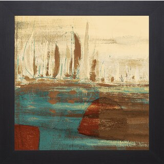 Kingsley 'Calm Waters Square I' Framed Artwork