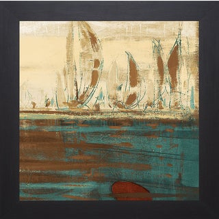 Kingsley 'Calm Waters Square II' Framed Artwork