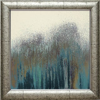 Roberto Gonzalez 'Teal Woods' Framed Artwork - Green