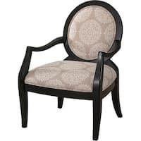 Powell Sabrina Pearl Black Framed Chair