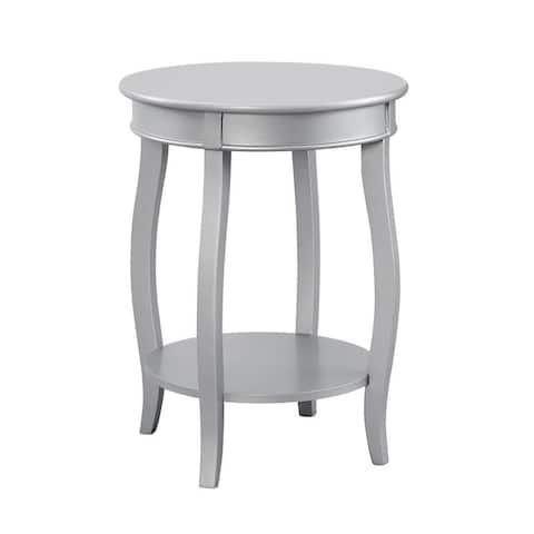 Powell Ariana Round Table with Shelf