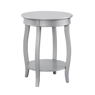Powell Ariana Round Table with Shelf