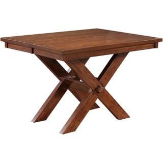 Powell Kraven Dark Hazelnut Finish X-base Gathering Table