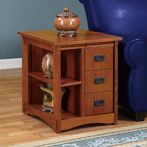 Mission Foyer Cabinet : Powell mission oak cabinet table free shipping today