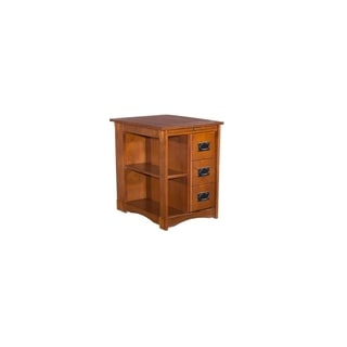Powell Mission Oak Cabinet Table