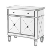 Powell Mirrored Glass Double-door Console