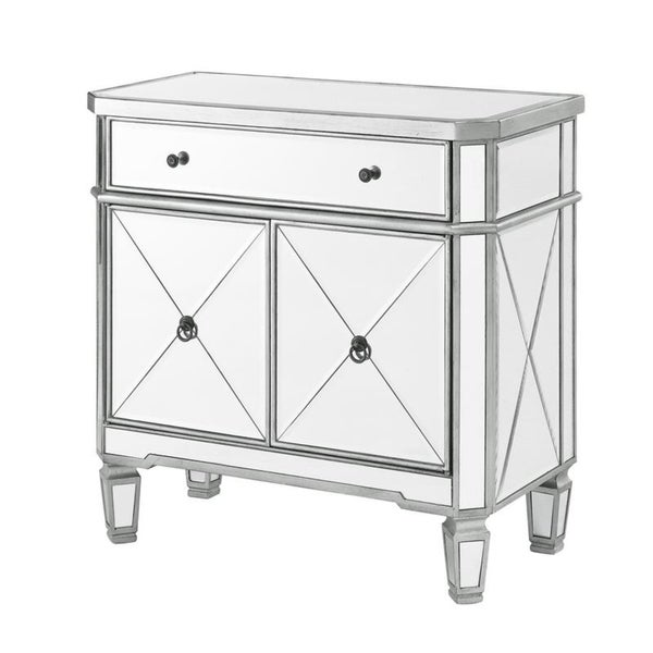 Gentil Powell Mirrored Glass Double Door Console