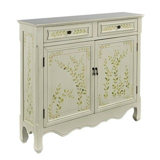 Powell Dover White Hand Painted Console