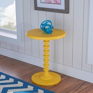 Powell Seaside Yellow Round Spindle Table