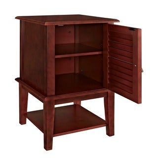 Powell Hertford Red Shutter Door Table