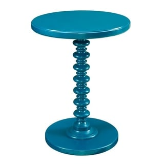 Powell Seaside Teal Round Spindle Table