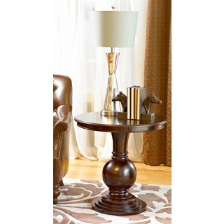Powell Katerina Espresso Round Accent Table