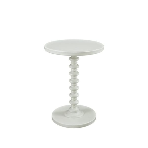 Powell Kallie White Round Spindle Table