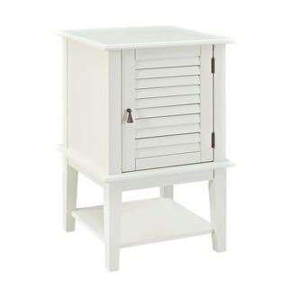 Powell Penelope White Shutter Door Table