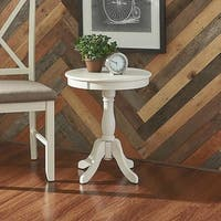 Powell Penelope White Round Modern End Table