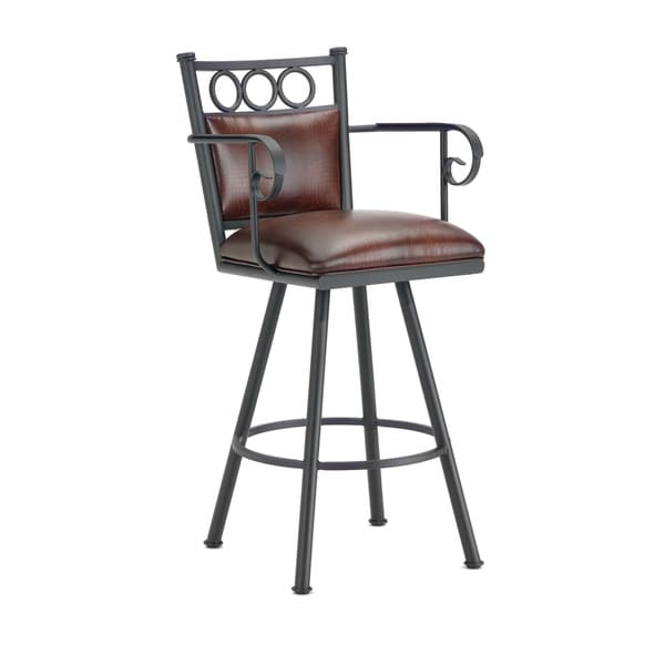 Waterson Swivel Padded Back Counter Stool with Arms Free  : Waterson Swivel Padded Back Counter Stool With arms 23a39391 170e 4ff0 9428 fbd4a91df641600 from www.overstock.com size 600 x 600 jpeg 13kB