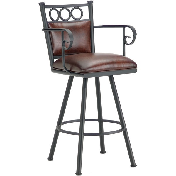 Shop Waterson Padded Back Swivel Bar Stool With Arms