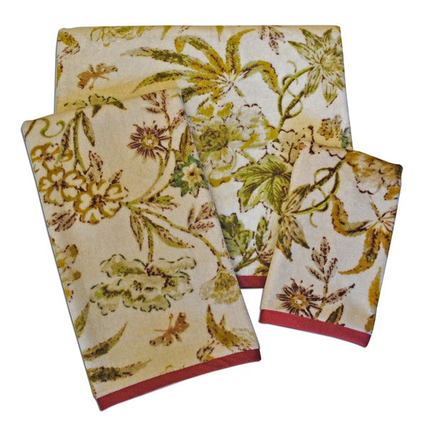 Waverly Honeymoon Print 3-piece Towel Set