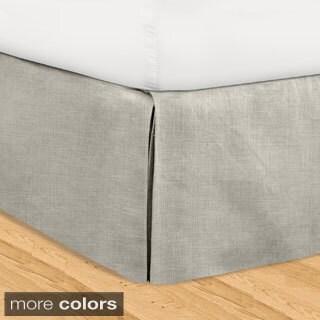 Veratex 'Hike Up Your Skirt' Adjustable 16-inch Linen Bedskirt