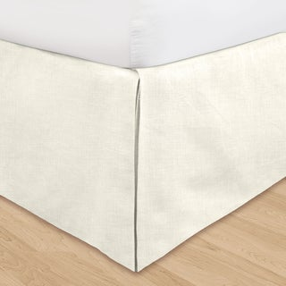 Veratex 'Hike Up Your Skirt' Adjustable 16-inch Linen Bedskirt