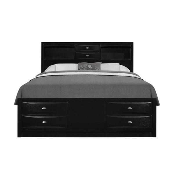 Black Queen Storage Bed