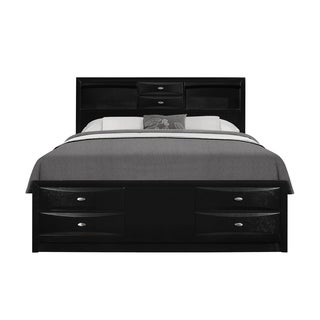 Black Queen Storage Bed
