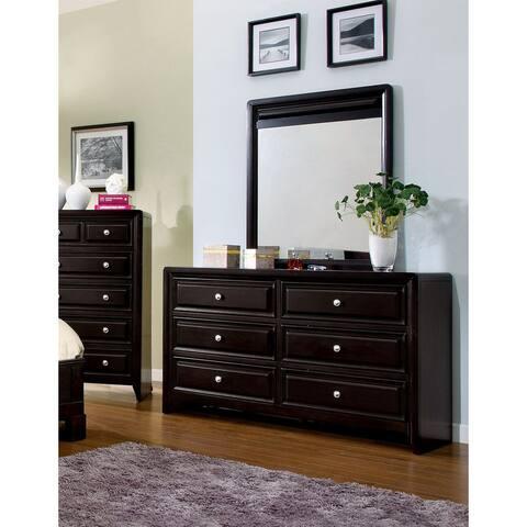 Furniture of America Gant Espresso 2-piece Dresser and Mirror Set