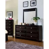 Furniture of America Belliane Espresso 2-Piece Dresser and Mirror Set